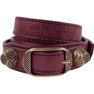 Balenciaga Arena leather triple tour bracelet